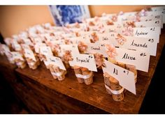 Handmade Wine Cork Placecard Holders / Favors They even have my name in the front of the picture! Handmade Wedding, Diy Wedding, Rustic Wedding, Dream Wedding, Wedding Black, Wedding Ideas, Wedding Tables, Wedding Goals, Rose Wedding