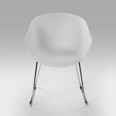 Contemporary dining chair with Chrome Plated Steel LegsAvailable Colours: Grey / WhiteDimensions: 555mm (L) 610mm (W) x 805mm (H)