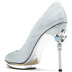 French Blue Crystal-Detail Faille Colette Platforms (€1.047) ❤ liked on Polyvore featuring shoes, swarovski crystal shoes, blue shoes, blue platform shoes, evening wear shoes and decorating shoes