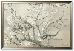 """Art.com """"Almond Branches in Bloom"""" Framed Art Print by Vincent van Gogh"""