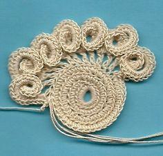 Freeform crochet motifs