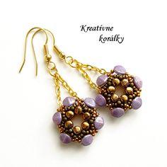 Earrings made of Pinch bedas