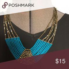 Beaded boho neckpiece Bohemian necklace ready for festival season Jewelry Necklaces