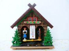 Vintage German Weather House Made in Western Germany Retro Vintage, Vintage Toys, Sweet Memories, Childhood Memories, Good Old Times, Square Blanket, Old Things, Germany, Crafty