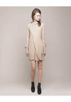 viktor & rolf | drape collar crepe dress