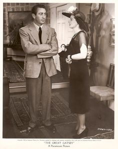 MacDonald Cary and Ruth Hussey as Nick and Jordan in publicity still from 1949 The Great Gatsby