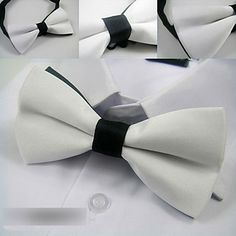 Men's Casual Trendy Solid Color Bow Tie