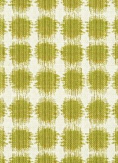 "Sabine 244 Acid Green - Jennifer Adams Home Fabric - Jacquard ikat dot fabric. Beautiful fabric for window treatments, furniture upholstery or top of the bed. Content; 58% cotton / 42% poly. Repeat; V 3.75"" x H 3.5"". 54"" wide. Durable 35,000 double rubs. Please note; 10 Yard minimum."