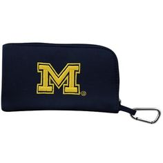 Michigan Wolverines Women's Clip-On ID Wallet - Navy Blue