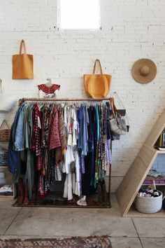 Hang clothes on a rod instead of a closet- visually see all of your clothes