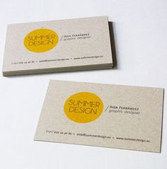 Standard business card that has a recycled feel.