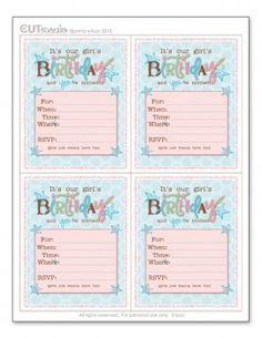 Printable Girl's Birthday Invitation – Tip Junkie Printables
