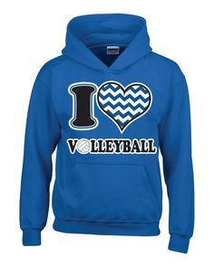 I Heart Volleyball Hoodie by A1Graphics on Etsy