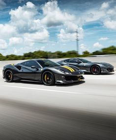 Best tag team ever! What's your favorite tag team? 812 Superfast belonging to the one and only  Photo credit goes to the rolling shot king  And photoshopped by  Ferrari Mondial, Ferrari 488, Lamborghini, Supercars, Air Ride, Weird Cars, Top Cars, Modified Cars, Fast Cars