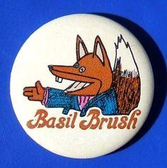 Basil Brush - promotional badge (c.1970) by RETRO STU, via Flickr