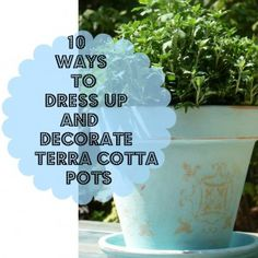 Ideas for decorating Terra cotta pots in the garden - Debbiedoo's  I ALWAYS PRIME TERRA COTTA IF PAINTING WHOLE POT, LEAVE BOTTOM UNPAINTED FOR WICKING WATER AND GOOD DRAINAGE
