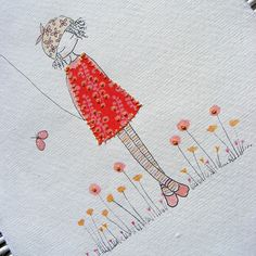 girl in a red dress by lili_popo, via Flickr