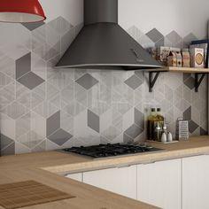Creative Geometrics Wall Décor Bambu Black & White 15.2cm x 26.3cm