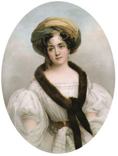 Portrait (copy) of princess Zofia Czartoryska (1778 – 1837, Polish noble lady) by Henri Grevedon (French,1776–1860) Kozłówka Palace (Poland)