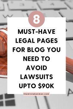 Legal terms one has to obey while taking blogging as business. 3 out of those 8 Legal Pages For Blogs, are mandatory for you, even if you're a beginner. Let's discover the 3 compulsory Legal Pages For Blog. And I'll also let you know about how and from where you can avail these Legal Pages For Blog #legaltemplates #bloglegally #legallyblog #blogginglegally #legalforms #privacypolicy #disclaimer #affiliatedisclosures #termsofuse #terms #howtostartablog #disclaimers #legalbundle #bloggingtips…
