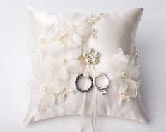 Wedding Ring PillowChampagne Lace Bearer PillowWedding Ring BearerWedding Ring CushionWedding decorSomething Blue- have to do things Wedding Ring Cushion, Cushion Ring, Wedding Pillows, Ring Bearer Pillows, Ring Pillows, Blue Wedding Rings, Wedding Bands, Something Blue Wedding, Ring Holder Wedding