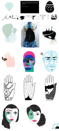 Collection of illustrations (archive) by @Studio Kontra