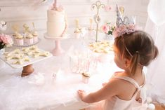 Sweet table from a Floral Unicorn Birthday Party on Kara's Party Ideas | KarasPartyIdeas.com (10)