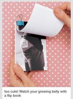 Pregnant week by week photo flip book!    Love it? Like it! <3