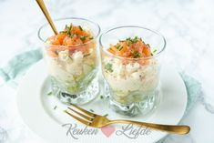 Eiersalade met zalm in een glaasje - Keuken♥Liefde Appetisers, High Tea, Quiche, Risotto, Panna Cotta, Buffet, Bbq, Brunch, Pudding