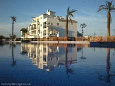 2 bedroom apartment in San Javier Mar Menor to rent from pw, within 15 mins walk of a Golf course with a private pool and a tennis court. Also with wheelchair access, balcony/terrace, air con, TV and DVD. 2 Bedroom Apartment, Private Pool, Great View, Terrace, Swimming Pools, Golf Courses, San, Mansions, House Styles