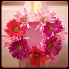 dollar store craft: flower wreath