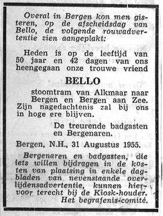 Afscheid van Bello