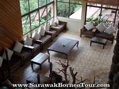 Comfortable seats at the lobby Kinabalu Park, World Heritage Sites, Conference Room, Patio, Outdoor Decor, Table, Furniture, Home Decor, Decoration Home