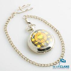 MacLeod Clan Crest Pocket Watch