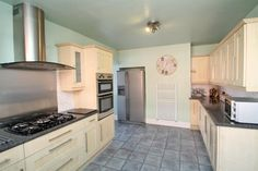 Extended semi-detached house with 3 bedrooms plus dressing room/study & bathroom with separate shower complimented by a spacious lounge, dining area with French doors, large kitchen with. Semi Detached, Detached House, Nottingham, French Doors, Dining Area, Kitchen Cabinets, Lounge, Room, Home Decor