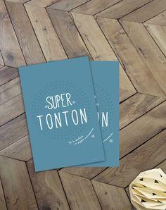 """Carte postale """"Super Tonton"""" je te souhaite un joyeux anniversaire : Cartes par suite-creative-babies"""