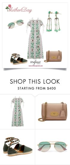 """""""Mother's Day Brunch"""" by trufauxjewels ❤ liked on Polyvore featuring Tory Burch, Mulberry, Valentino and Gucci"""