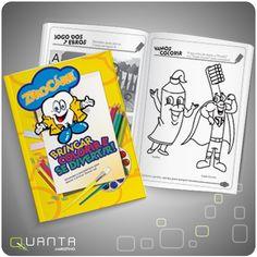 Revista de desenhos e pinturas para projeto de educação bucal infantil - Zero Cárie.