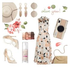 """""""Natural day"""" by fanfanfanfannnn ❤ liked on Polyvore featuring Marc Jacobs, Schutz, Benefit, Mar y Sol, Lela Rose, tarte and Kate Spade"""