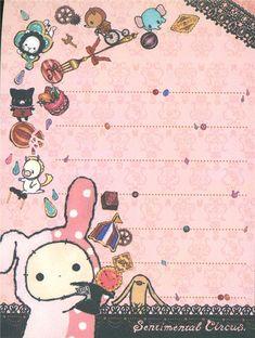 Sentimental Circus with sweets mini Memo Pad 4