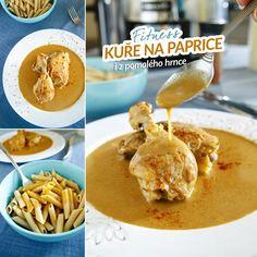 Fitness kuře na paprice - pomalý hrnec - zdravý recept Bajola Poultry, Turkey, Healthy Recipes, Chicken, Meat, Fitness, Ph, Food, Red Peppers