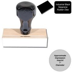 Regular #Black #Neoprene #Rubber Stamp Size 1 Diameter. Our Black Neoprene Stamps  are built to last in an industrial environment. These hand stamps are oil & acid resistant. Order now!