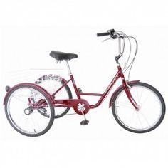 "Triciclo Amat 24"" rojo #triciclo #movilidad #comodidad #ortopedia #ortopediaplus #seguridad #tricycle #Health #sports #cycling #cool #segurity"