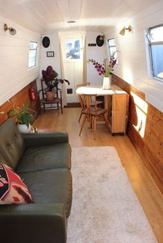 Liveaboard Cruiser Stern Narrowboat in Cars, Motorcycles & Vehicles, Boats & Watercraft, Narrowboats/Canalboats Barge Interior, Best Interior, Interior Design, Interior Ideas, Plywood Boat Plans, Wooden Boat Plans, Canal Boat Interior, Canal Barge, Narrowboat Interiors