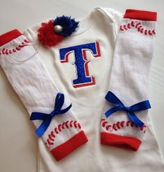 Baby Girl Texas Rangers Inspired Outfit