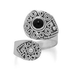 Oxidized Black Onyx Wrap Ring        Price: $62.99