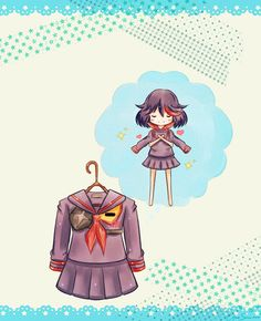 Always in my Dreams ~ Senketsu x Ryuko Matoi by Ayumi--Sama - Senketsu and Ryuko are so cute in this drawing!