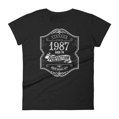 1987 Birthday Gift Vintage Born In T Shirt For Women 31st Her Made 31 Year Old