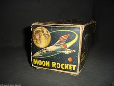 Fantastic Yonezawa Space SHIP Moon Rocket Toy Battery Operated with Lights Boxed | eBay