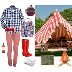 The perfect ensemble for glamping...Hahahahaha!  This is for you Sarah Elizabeth!  Maybe you should go glamping instead of camping!  OMG I love this!